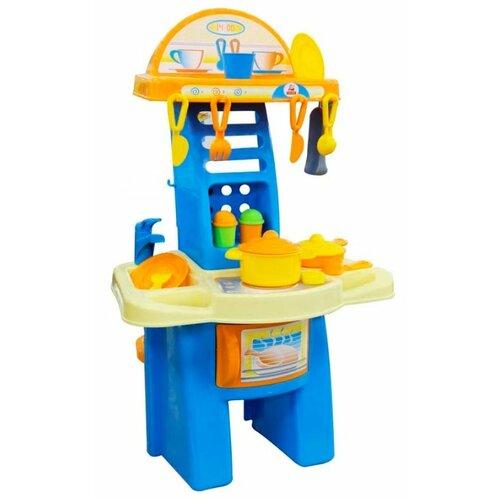 Купить Кухня Palau Toys Мария №1 42590 голубой/желтый/бежевый/оранжевый, Детские кухни и бытовая техника