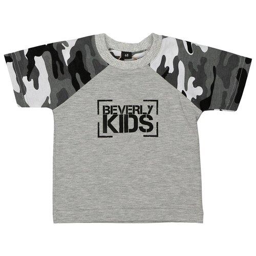 Футболка BEVERLY KIDS размер 68, серый
