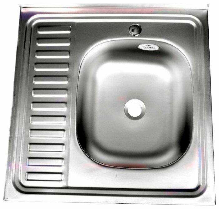 Накладная кухонная мойка Fabia 60x60 0.6/160 60х60см нержавеющая сталь
