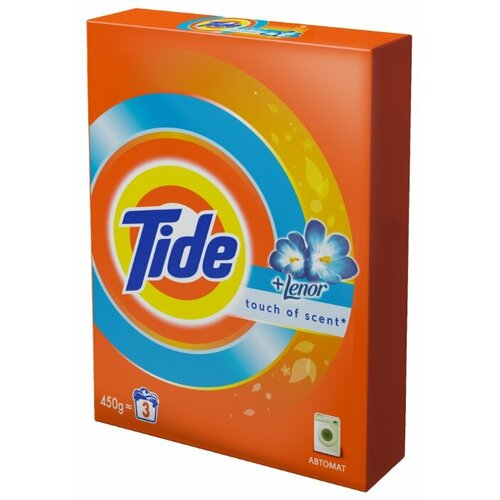 Стиральный порошок Tide Lenor Touch of Scent (автомат) 0.45 кг картонная пачкаСтиральный порошок<br>