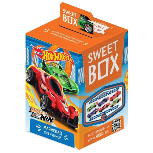 цена на Жевательный мармелад Sweet Box Hot Wheels ассорти 10 г