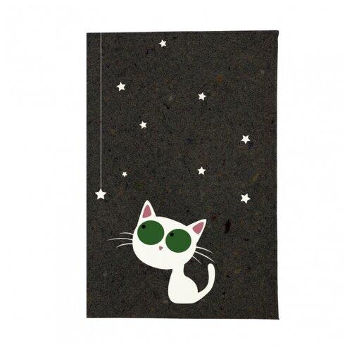 Обложка для паспорта Mitya Veselkov Кошка и звезды OK216, Принт