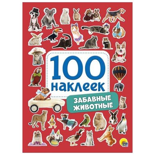 Prof-Press Набор 100 наклеек Забавные животные