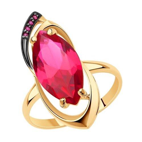 Diamant Кольцо из золота с корундами 51-310-00358-1, размер 17.5