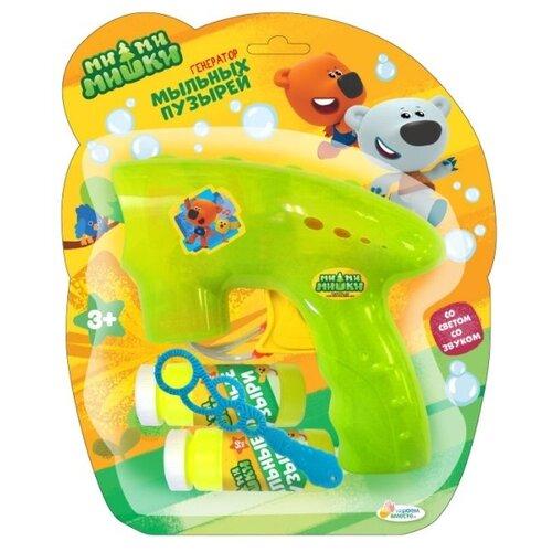 Пистолет для пускания мыльных пузырей Играем вместе Мимимишки зеленый