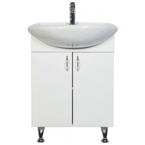 Тумба для ванной комнаты с раковиной Orange Роса Ro-50TU, ШхГхВ: 51х41х82 см, цвет: белый
