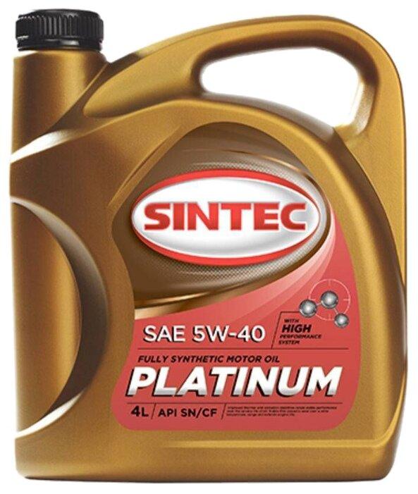 Моторное масло SINTEC Platinum 5W-40 4 л