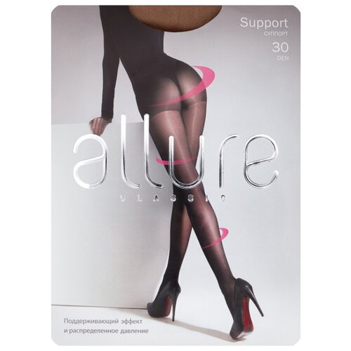 Колготки ALLURE Classic Support 30 den, размер 3, caramello (бежевый) колготки anfica classic 30 den