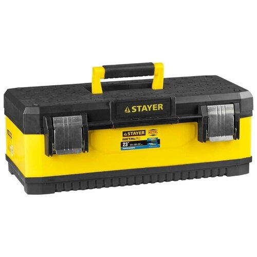 Ящик с органайзером STAYER Professional 2-38011-21.5 58.4x28.9x22.2 см 23'' черный/желтый ящик с органайзером stanley jumbo 1 92 908 31 4x56 2x30 см желтый черный