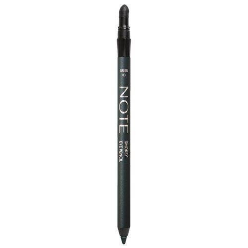 Note Карандаш для глаз Smokey Eye Pencil, оттенок 03 green карандаш для глаз eye pencil 1 3г 43 nude pencil