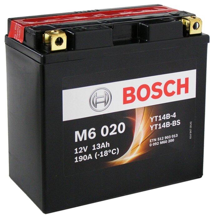 Мото аккумулятор Bosch M6 020 AGM (0 092 M60 200)