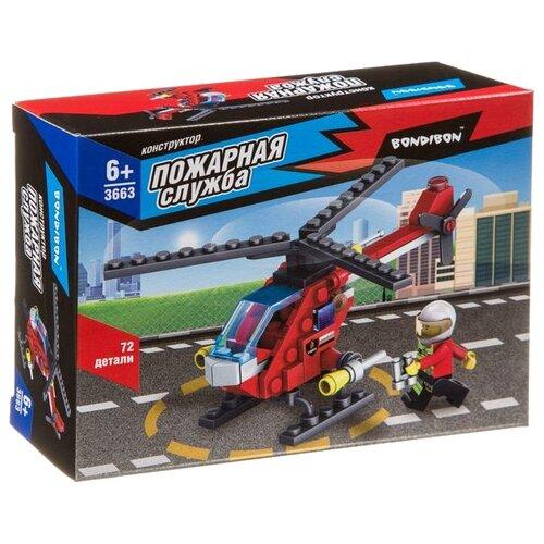 Купить Конструктор BONDIBON Пожарная служба ВВ3663 Вертолет, Конструкторы