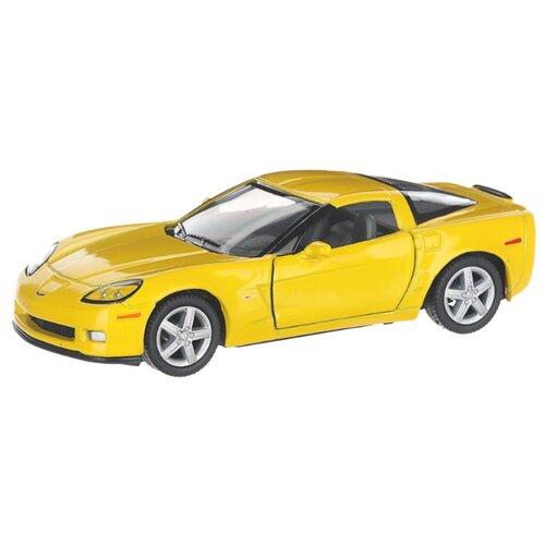 Купить Детская инерционная металлическая машинка с открывающимися дверями, модель Chevrolet Corvette Z06, желтый, Serinity Toys, Машинки и техника