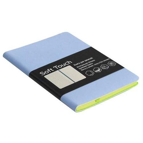 Блокнот Listoff Soft Touch. Голубой А6, 80 листов (КЗСК6802583) блокнот listoff soft touch синий а6 80 листов кзск6802585
