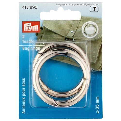 Купить Prym 417890 Кольца для сумок 35 мм, серебристый (2 шт.), Фурнитура
