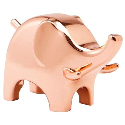 Подставка для колец Umbra Anigram слон, медь подставка для колец umbra anigram медь