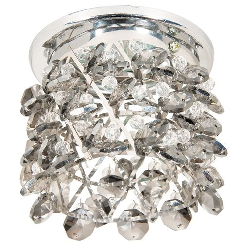 Встраиваемый светильник Акцент Crystal 814, хром/дымчатый