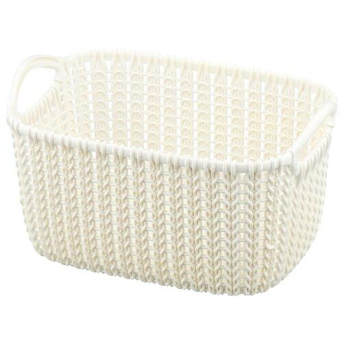 Фото - CURVER Корзина Knit XS 14x25x18см белый корзина для хранения curver knit 3 л прямоугольная голубой