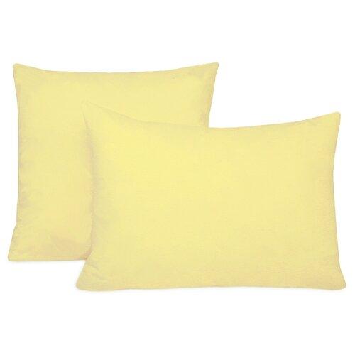 Комплект наволочек Селтекс на молнии 70 х 70 см желтый светлый