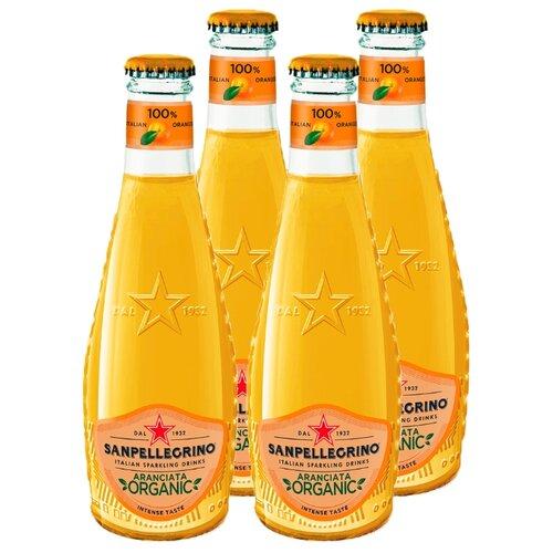Газированный напиток Sanpellegrino Organic Aranciata, 0.2 л, 4 шт.