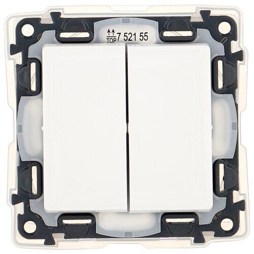 Выключатель 2х1-полюсный Legrand Valena Life 752155,10А, белый