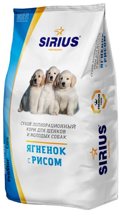 Корм для собак Sirius (3 кг) Ягненок с рисом для щенков и молодых собак — купить по выгодной цене на Яндекс.Маркете