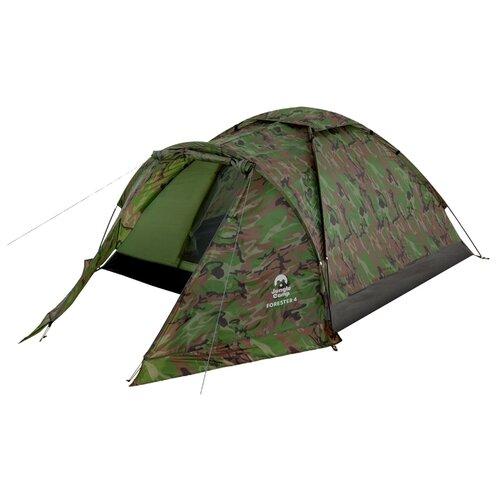 Палатка Jungle Camp Forester 4 камуфляж палатка jungle camp lite dome 4 mono dome 4 зеленый серый 70813 70883