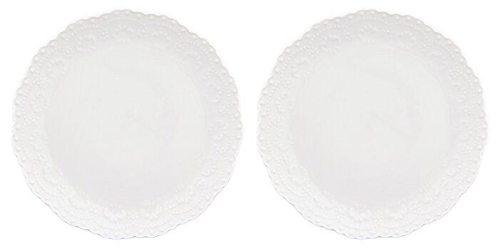 Elan gallery Набор десертных тарелок Белый узор 16 см, 2 шт (540158)
