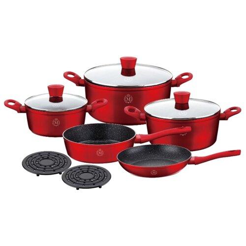 Набор посуды Meisterklasse MK-1015 10 пр. красный