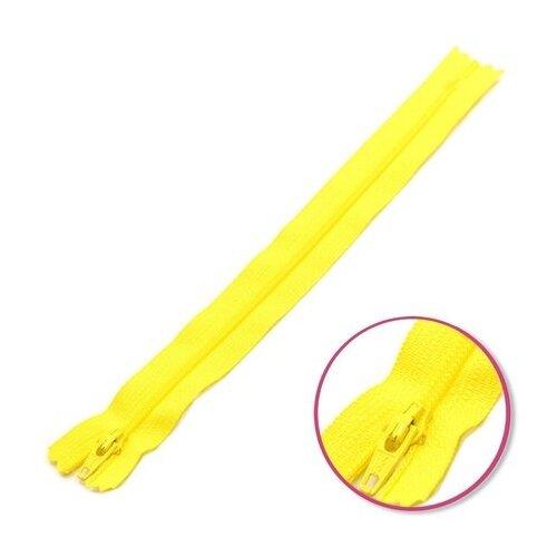 Купить YKK Молния витая неразъемная 0561179/12, 12 см, желтое солнце/желтое солнце, Молнии и замки