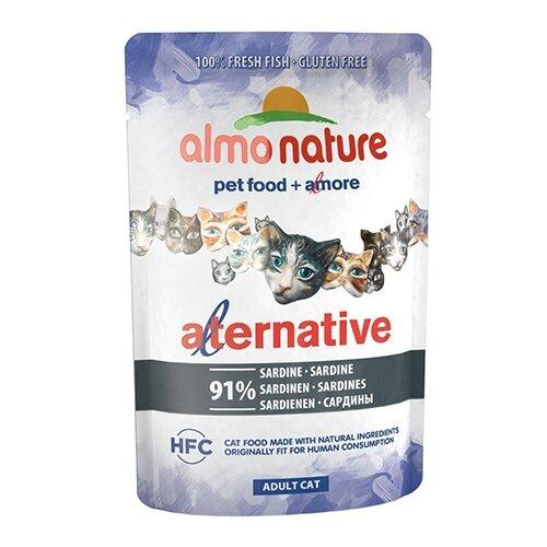 Влажный корм для кошек Almo Nature Alternative, с сардиной 55 г