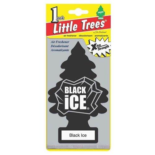 Фото - Little Trees Ароматизатор для автомобиля Большая Ёлочка Черный лед (Black Ice) 12 г little trees ароматизатор для автомобиля u3s 32967 eu пина колада
