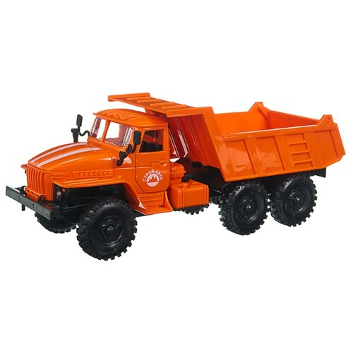 Грузовик Play Smart Автопарк Урал (9465) 1:38 20 см оранжевый грузовик play smart автопарк урал аварийная служба 9464a 25 см оранжевый
