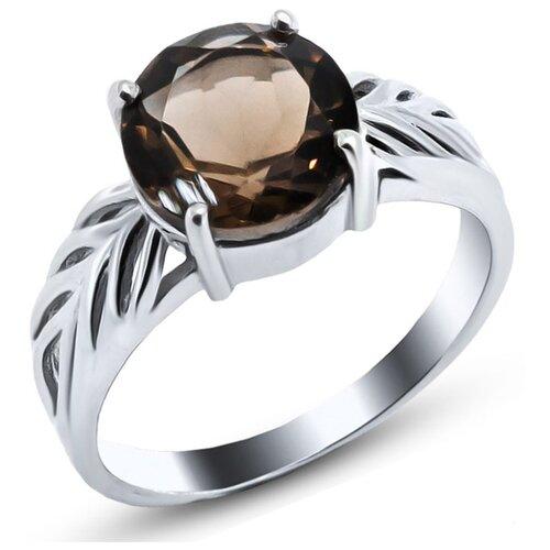 Фото - Silver WINGS Кольцо с раухтопазами из серебра 21vsffa00492-19, размер 16.5 silver wings серьги с раухтопазами из серебра 22ke5896 90