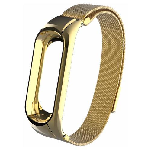 CARCAM Ремешок металлический Milanese для Xiaomi Mi Band 3 золотистый