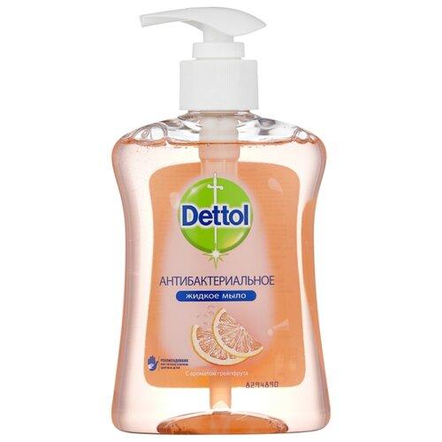 цена Мыло жидкое Dettol Антибактериальное c ароматом грейпфрута, 250 мл онлайн в 2017 году