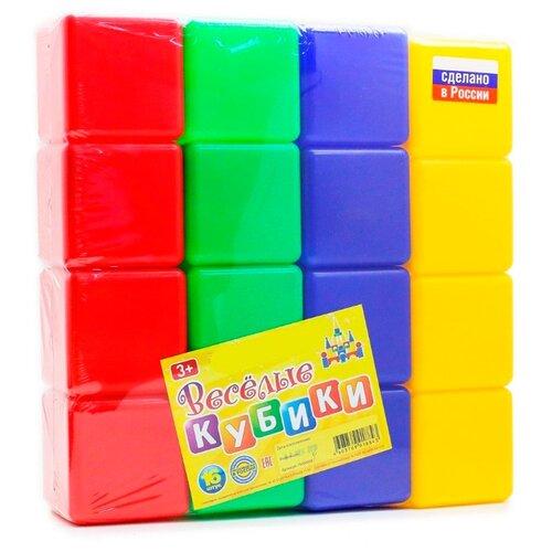 Купить Кубики Новокузнецкий завод пластмасс Веселые кубики (16 шт.), Детские кубики
