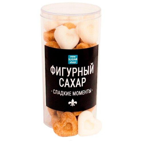 Сахар New SUGAR shop фигурный Сладкие моменты Сердечки сахарные тростниковые и белые 0.15 кгСахар<br>