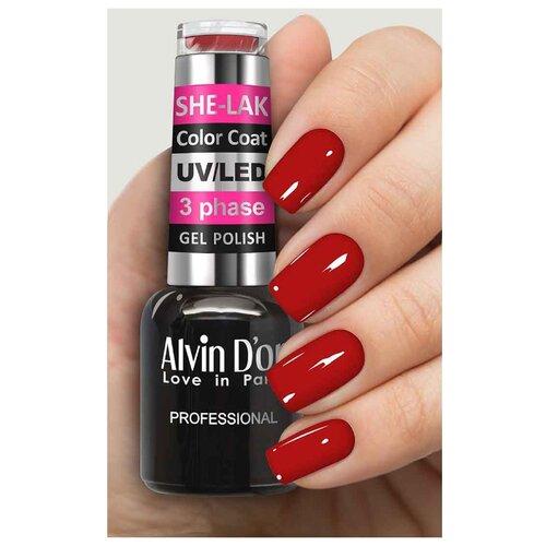 Фото - Гель-лак для ногтей Alvin D'or She-Lak Color Coat, 8 мл, оттенок 3547 гель лак для ногтей cosmoprofi color coat 15 мл оттенок 027