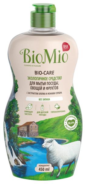 Гель для посуды BioMio (концентрат) Bio-Care без запаха, 315мл