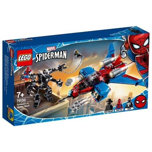 Конструктор LEGO Marvel Super Heroes 76150 Реактивный самолёт Человека-Паука против Робота Венома конструктор lego super heroes mighty micros 76070 чудо женщина против думсдэя