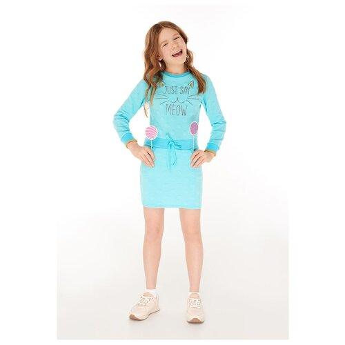 Купить Платье INFUNT размер 140, светло-зеленый, Платья и сарафаны