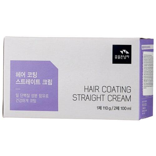 FLOR de MAN Маска для волос Hair Care System Hair Coating Straight Cream 110 мл.