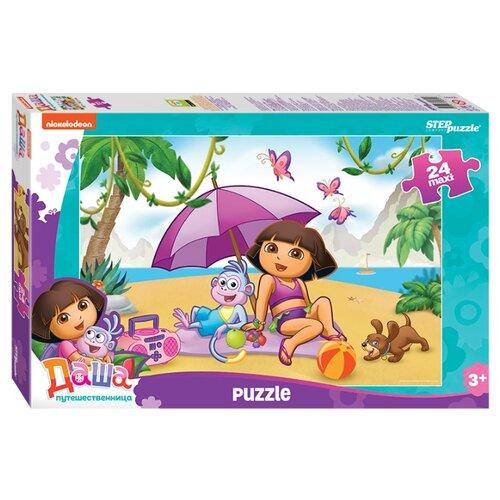 Пазл Step puzzle Maxi Даша-путешественница (90050), 24 дет. пазл step puzzle maxi даша путешественница 90050 24 дет
