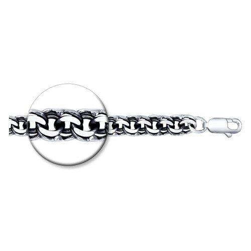 Фото - SOKOLOV Браслет из чернёного серебра с алмазной гранью 995141504, 20 см, 29.59 г sokolov шнур из чернёного серебра 95080008 50 см 1 76 г