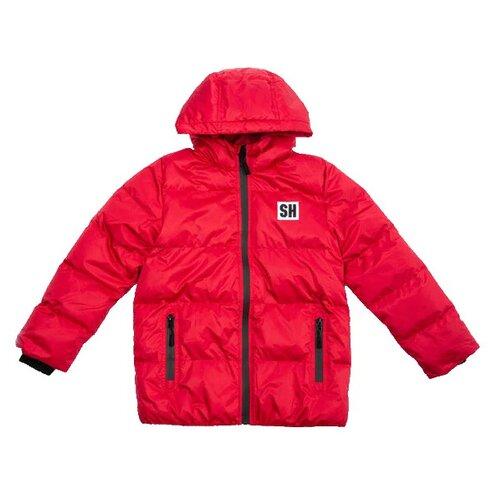 Купить Куртка playToday 381153 размер 104, красный, Куртки и пуховики