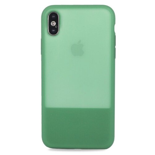 Купить Чехол Pastila Clear Silicone Case для Apple iPhone X/Xs зеленый