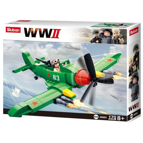 Купить Конструктор SLUBAN WW2 M38-B0683 Штурмовик, Конструкторы