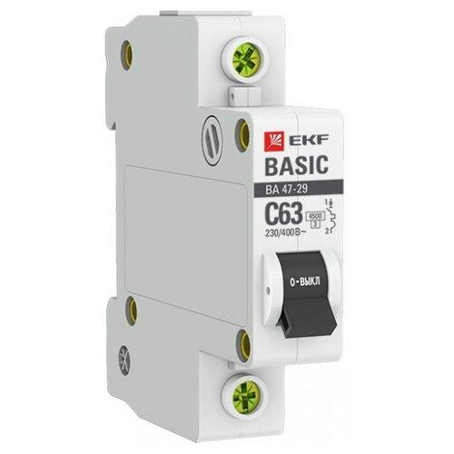 Автоматический выключатель EKF ВА 47-29 1P (C) 4,5kA 20 А выключатель автоматический однополюсный 6а c 4 5ka ва 47 63 ekf proxima