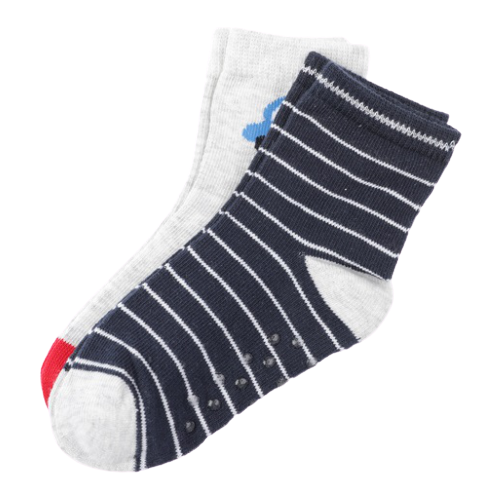 Купить Носки playToday комплект из 2 пар, размер 12, темно-синий/серый